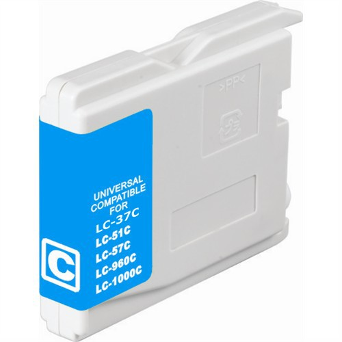 Brother LC37C Compatible Cyan Dye Ink Cartridge