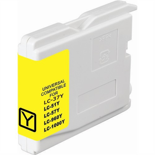 Brother LC37Y Compatible Yellow Dye Ink Cartridge