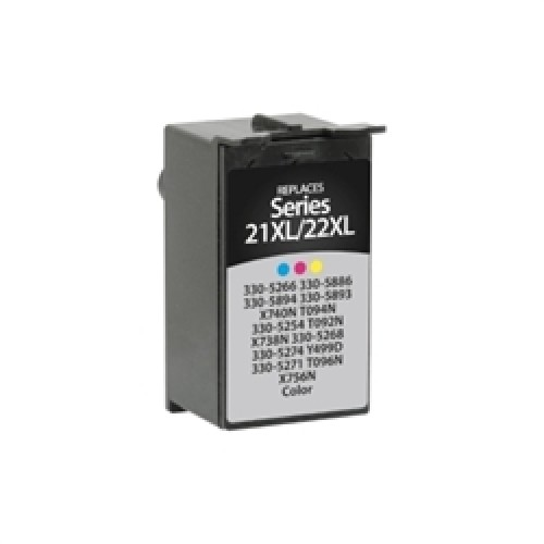 Dell Series 21, T088N, 59211400 Compatible TriColour High Yield Dye Ink Cartridge