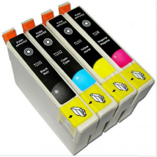Epson 133 Compatible High Yield B,C,M,Y Ink Cartridge Bundle