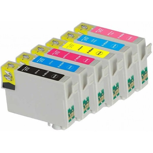 Epson 82N Compatible B,C,M,Y,LC,LM Ink Cartridge Bundle