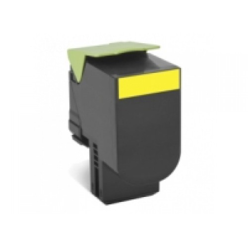 Lexmark 70C8HY0 Compatible Yellow High Yield Laser Cartridge